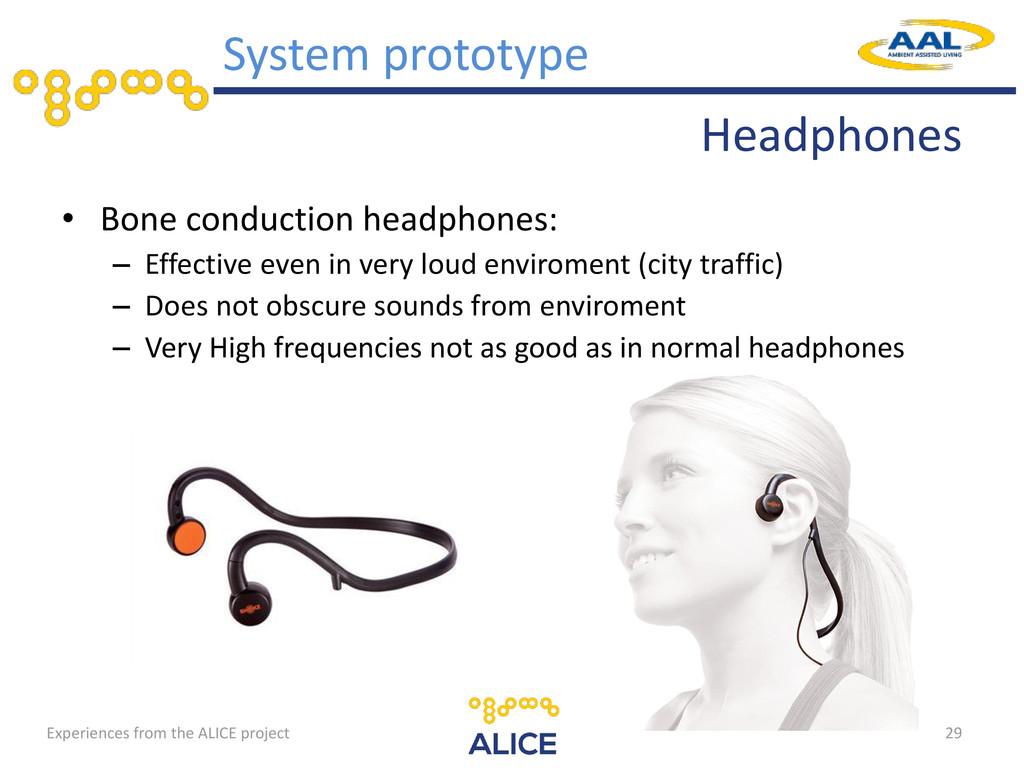Headphones • Bone conduction headphones: – Effe...
