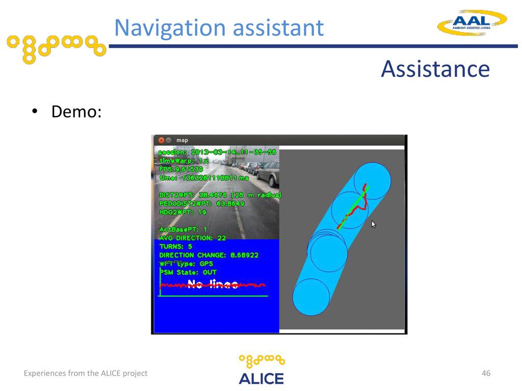 Assistance • Demo: 46 Navigation assistant Expe...
