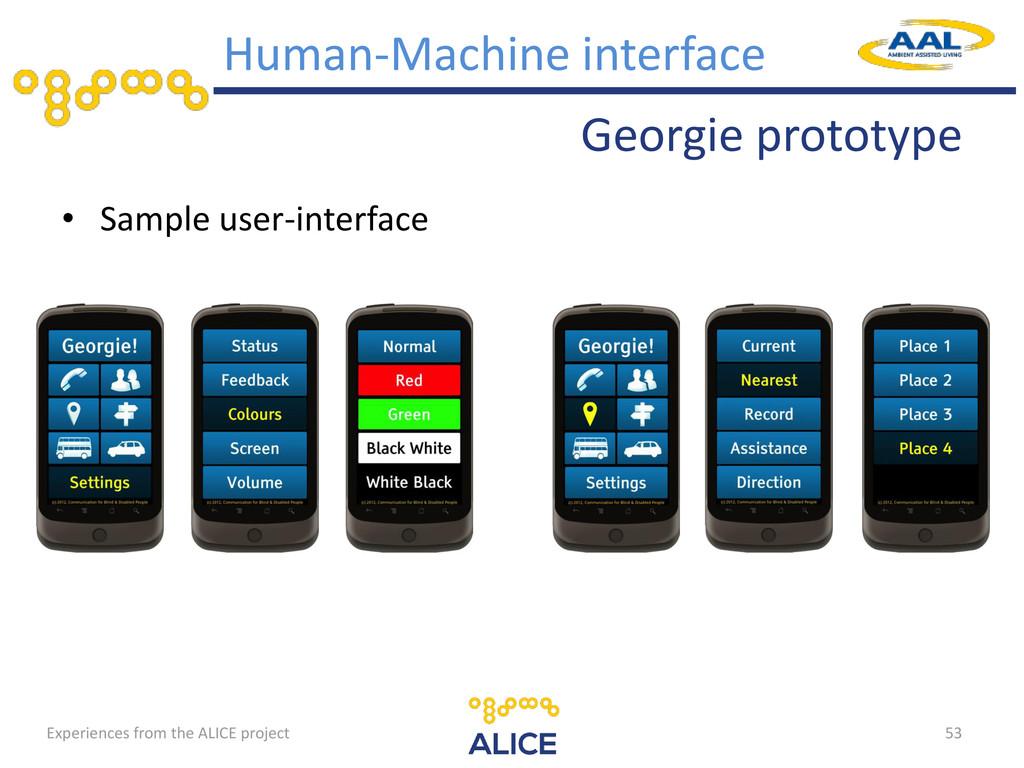 Georgie prototype • Sample user-interface 53 Hu...