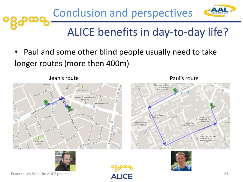 Experiences from the ALICE project ALICE benefi...