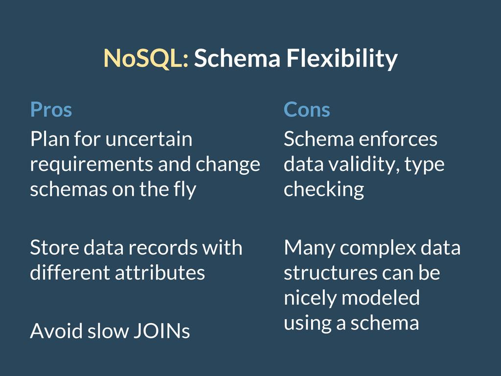 NoSQL: Schema Flexibility Pros Plan for uncerta...