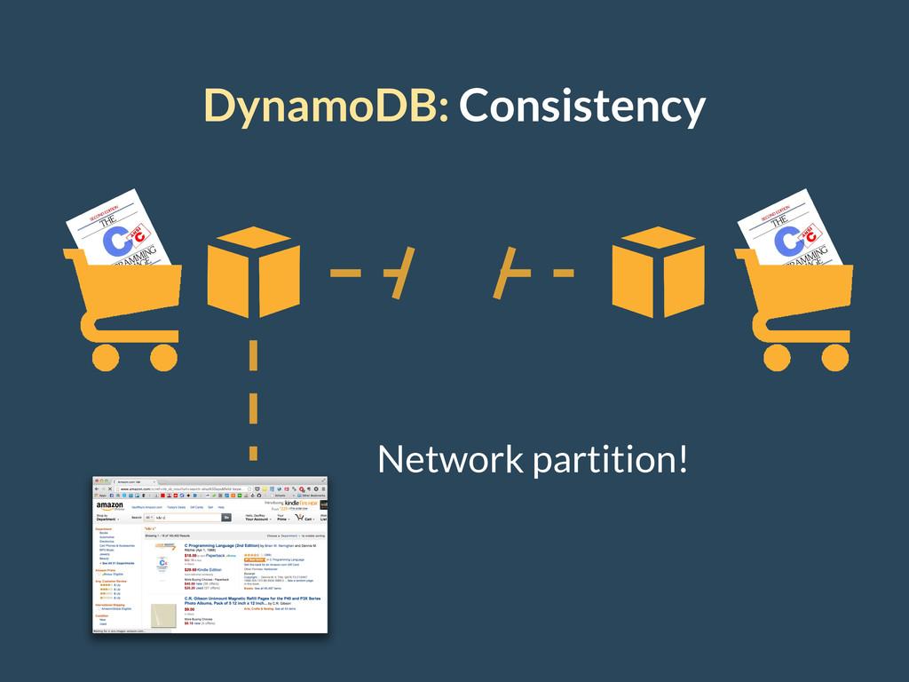 DynamoDB: Consistency Network partition!