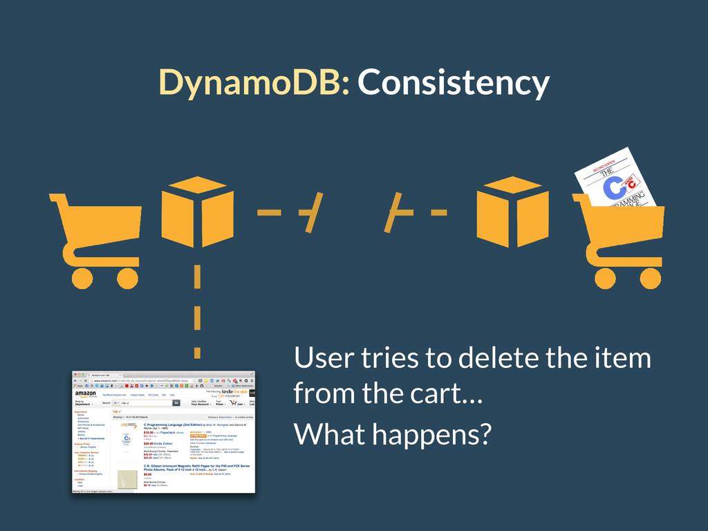 DynamoDB: Consistency User tries to delete the ...