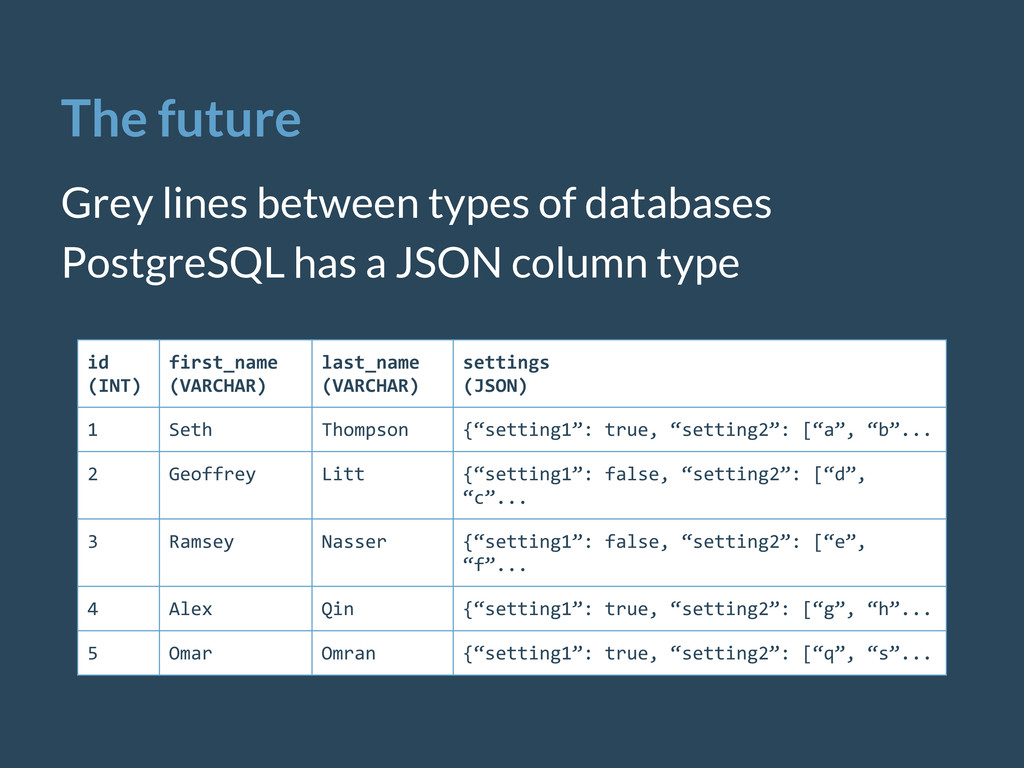 The future Grey lines between types of database...