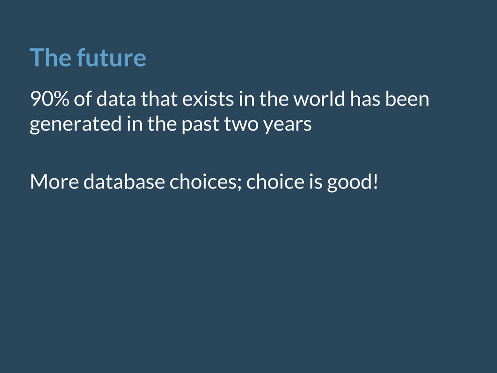 The future 90% of data that exists in the world...