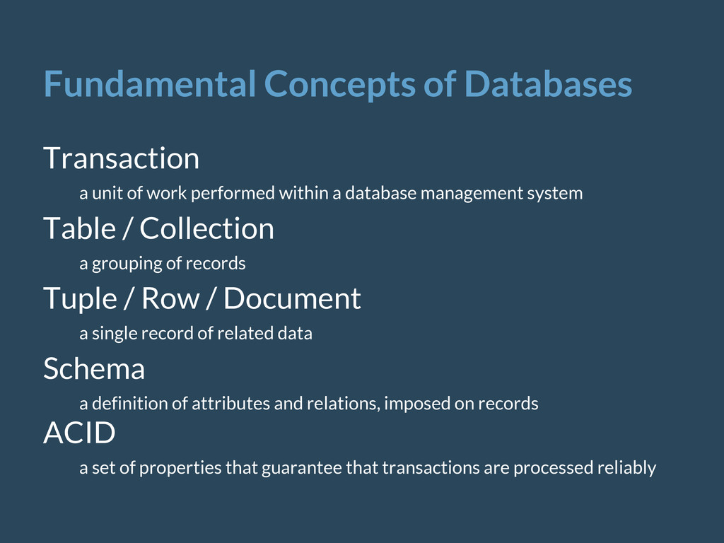 Fundamental Concepts of Databases Transaction a...