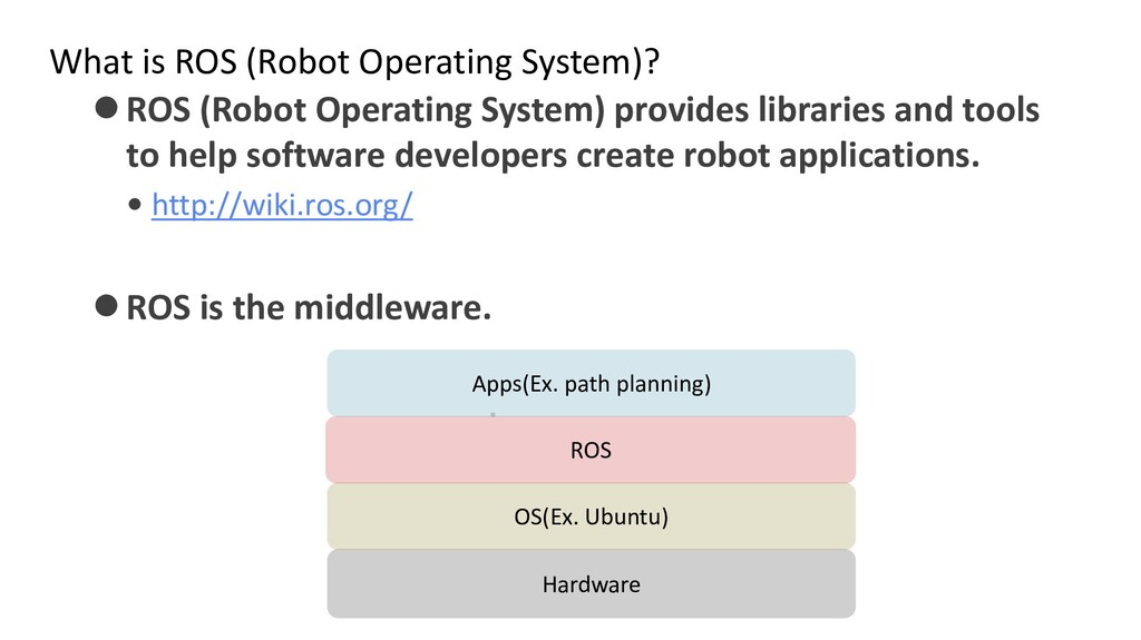 What is ROS (Robot Operating System)? ⚫ROS (Rob...