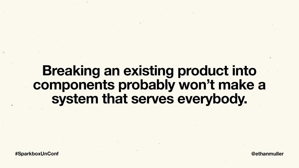 @ethanmuller #SparkboxUnConf Breaking an existi...