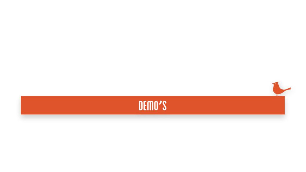 Demo's