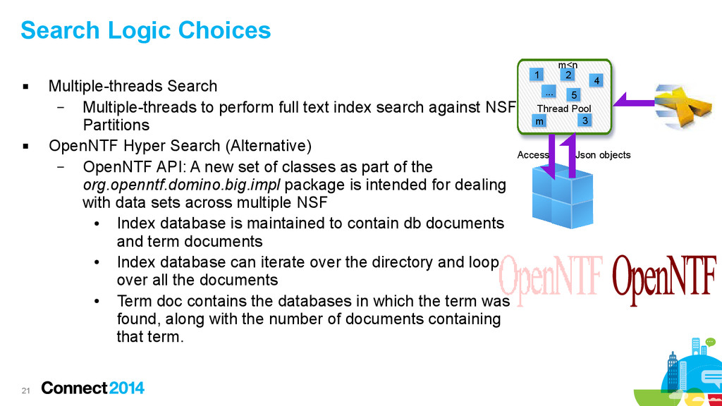 21 Search Logic Choices  Multiple-threads Sear...
