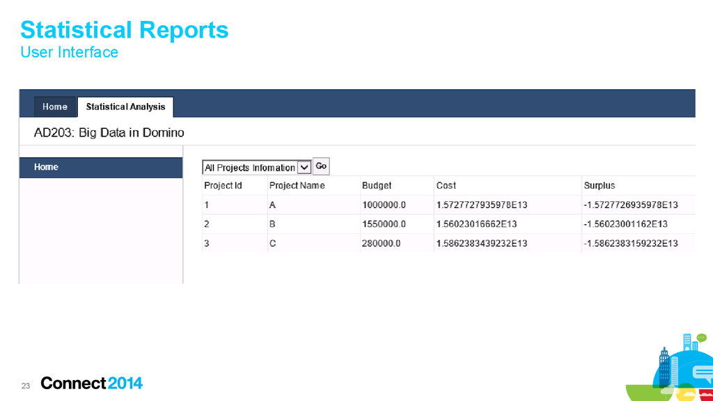 23 Statistical Reports User Interface