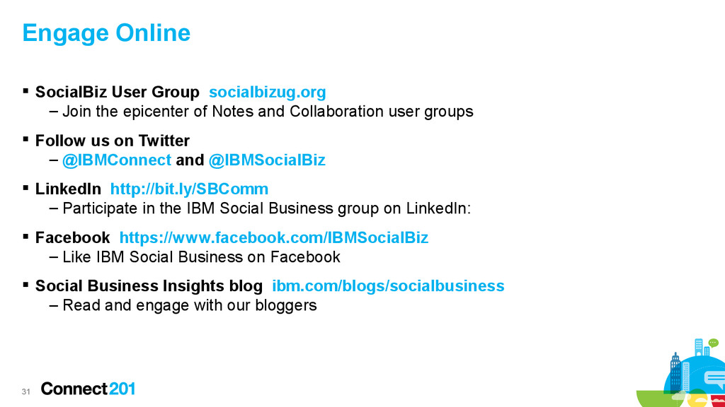 31 Engage Online  SocialBiz User Group socialb...