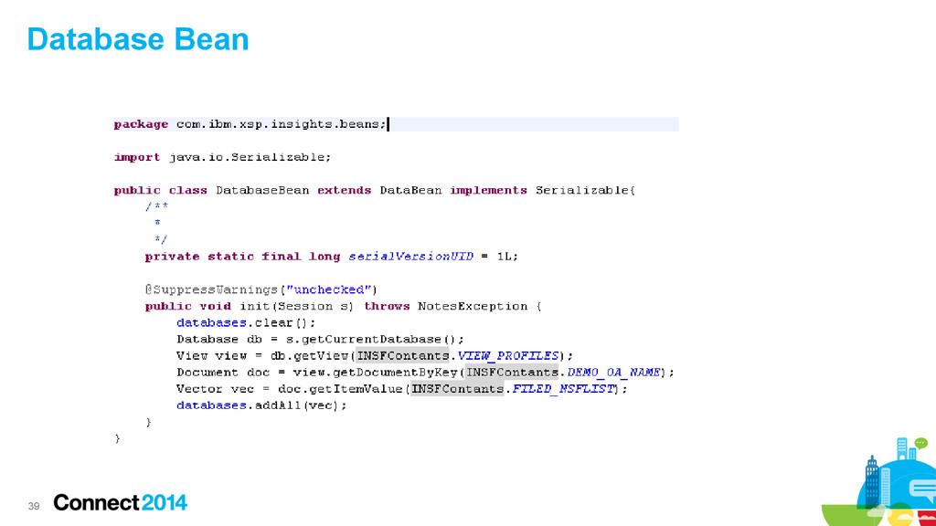 39 Database Bean