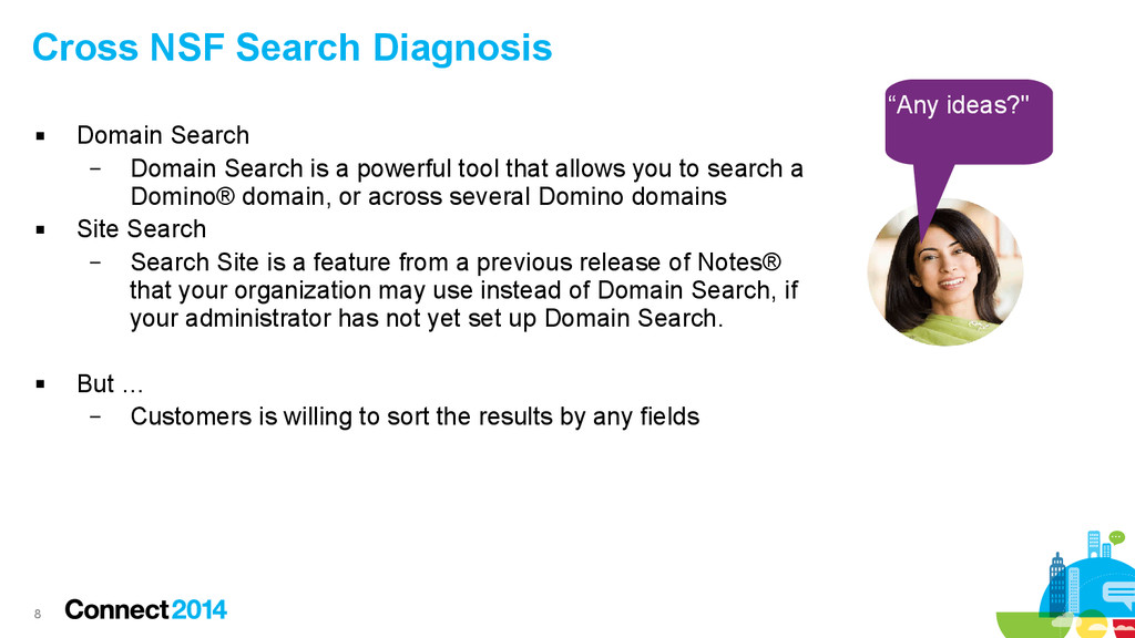 8 Cross NSF Search Diagnosis  Domain Search – ...