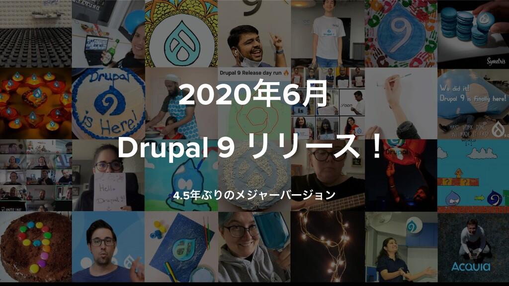20206݄ Drupal 9 ϦϦʔεʂ 4.5ͿΓͷϝδϟʔόʔδϣϯ