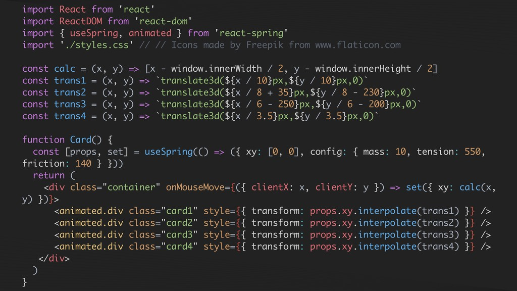 import React from 'react' import ReactDOM from ...