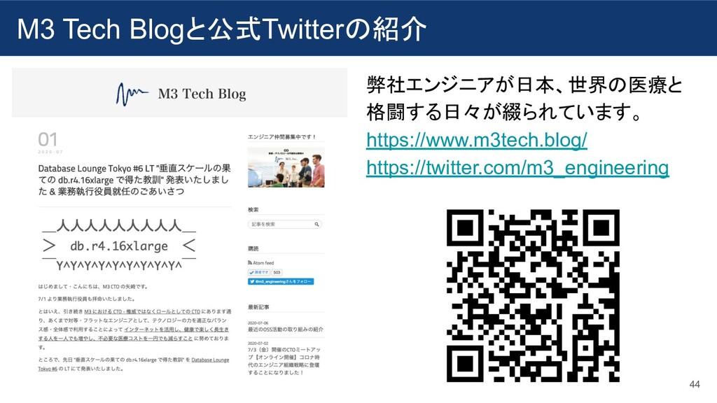 M3 Tech Blogと公式Twitterの紹介 44 弊社エンジニアが日本、世界の医療と ...