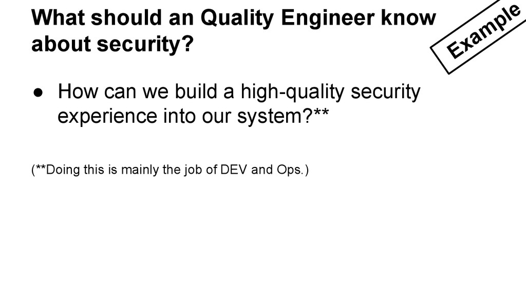 ● How can we build a high-quality security expe...