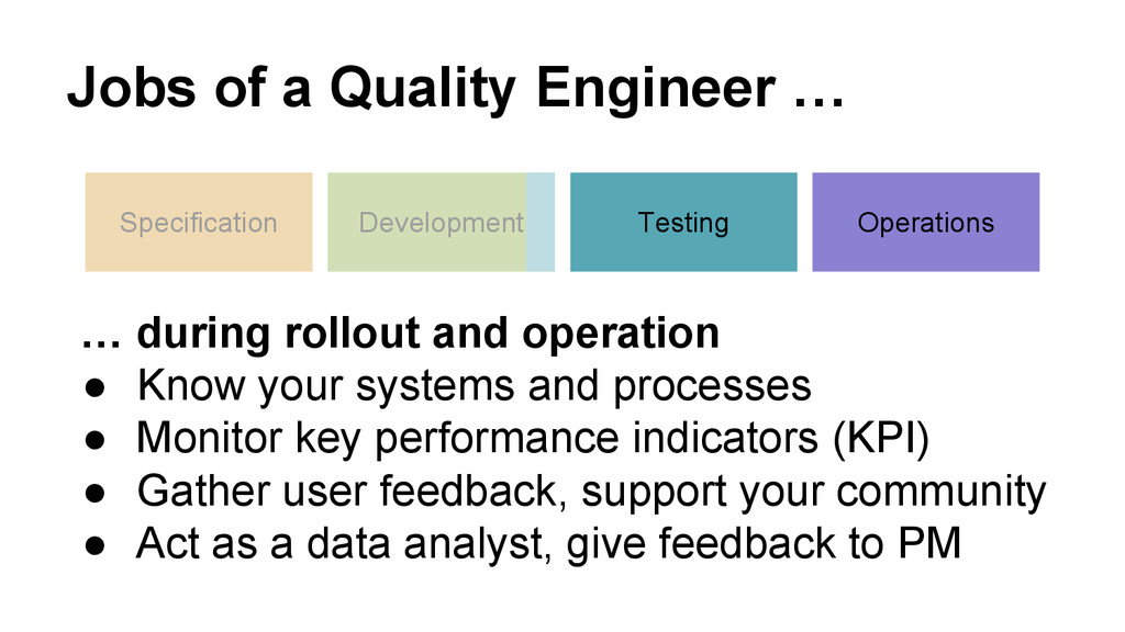 Jobs of a Quality Engineer … Specification Deve...