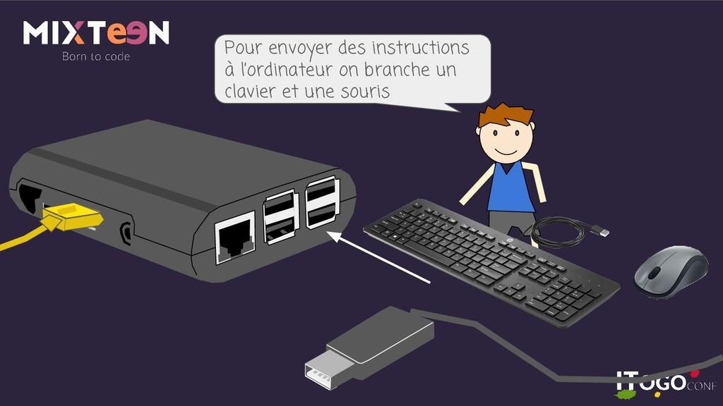 Pour envoyer des instructions à l'ordinateur on...