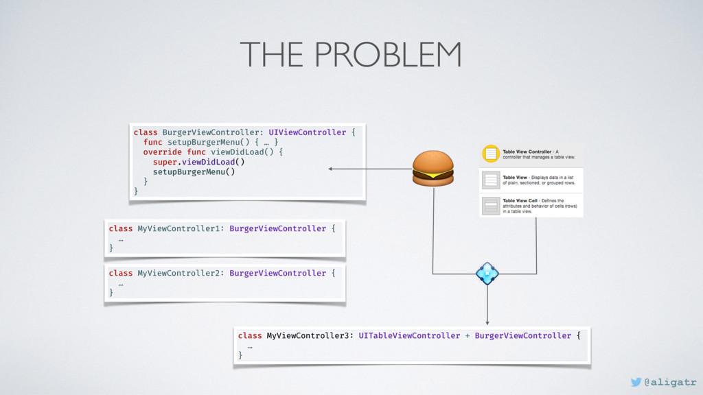 THE PROBLEM  class BurgerViewController: UIView...