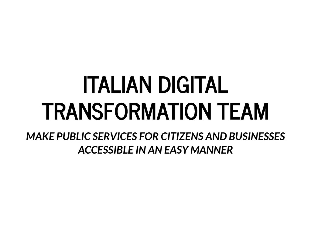 ITALIAN DIGITAL ITALIAN DIGITAL TRANSFORMATION ...