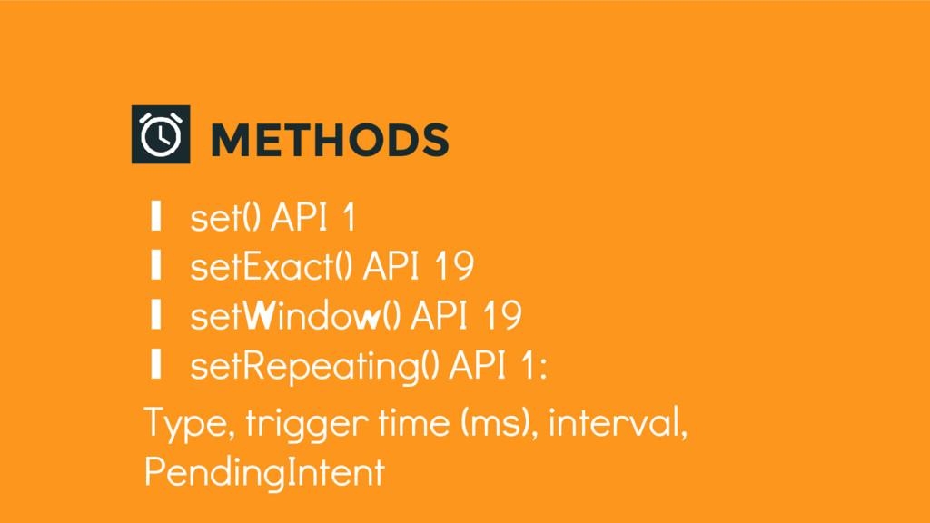 ∎ set() API 1 ∎ setExact() API 19 ∎ setWindow()...