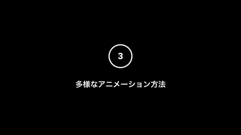 3 ଟ༷ͳΞχϝʔγϣϯํ๏