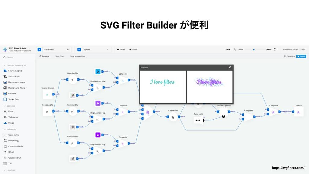 SVG Filter Builder ͕ศར https://svgfilters.com/