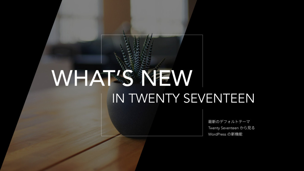 IN TWENTY SEVENTEEN WHAT'S NEW ࠷৽ͷσϑΥϧτςʔϚ