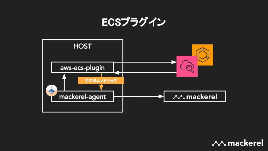 ECSプラグイン HOST mackerel-agent aws-ecs-plugin カス...