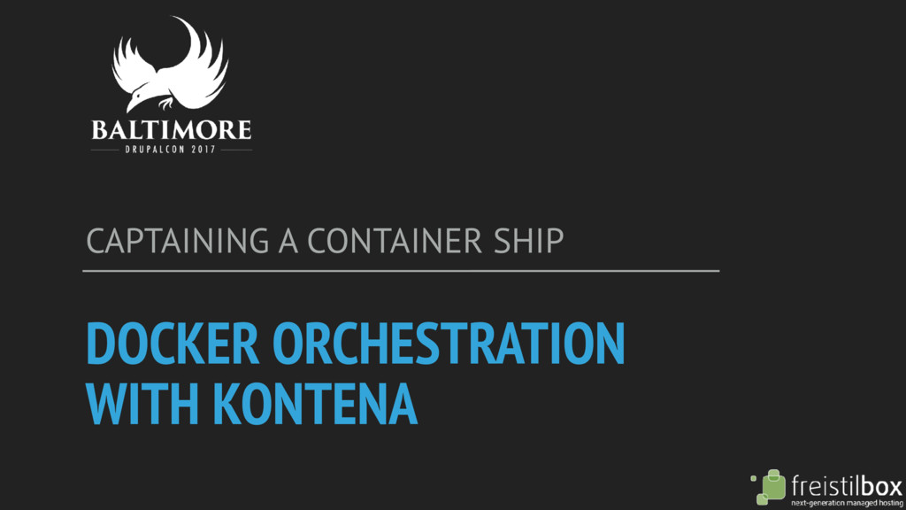 DOCKER ORCHESTRATION WITH KONTENA CAPTAINING A ...