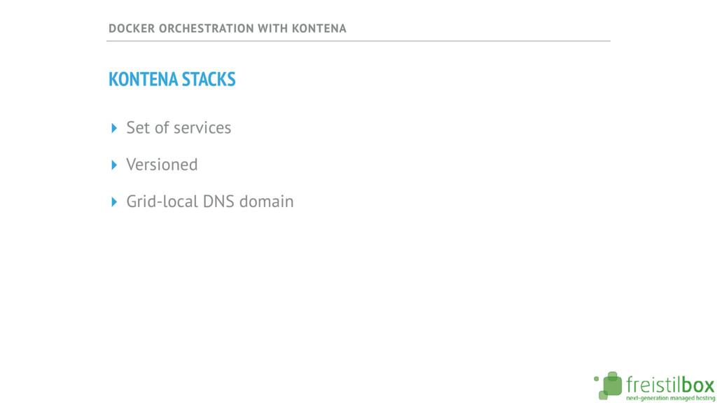 DOCKER ORCHESTRATION WITH KONTENA KONTENA STACK...