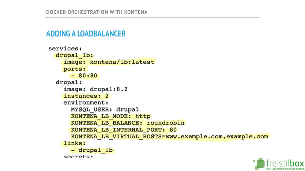 DOCKER ORCHESTRATION WITH KONTENA ADDING A LOAD...