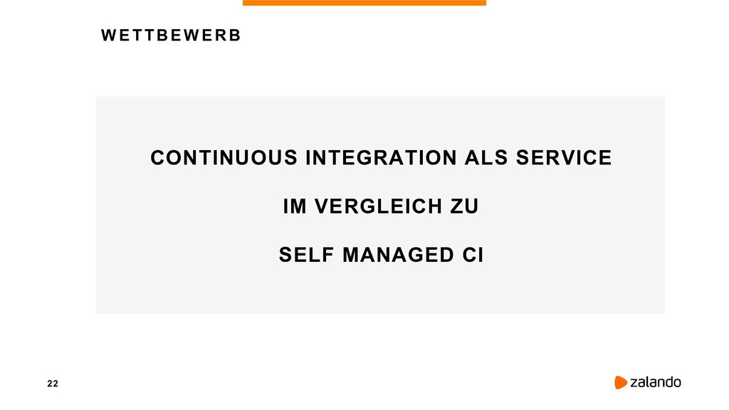 22 WETTBEWERB CONTINUOUS INTEGRATION ALS SERVIC...