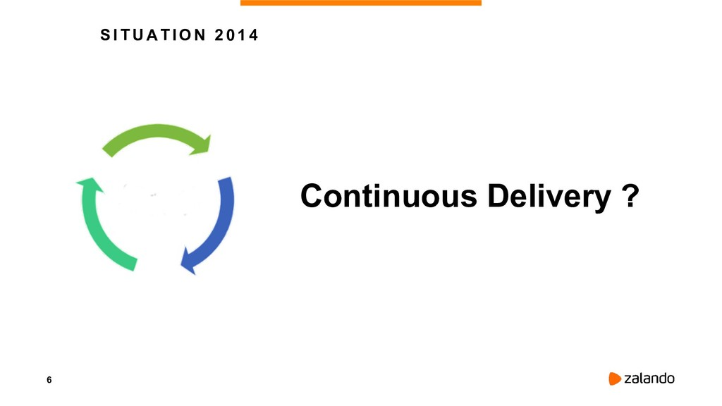 6 SITUATION 2014 Continuous Delivery ?