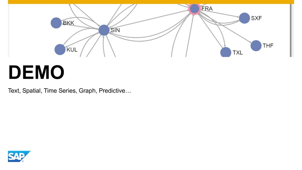 DEMO Text, Spatial, Time Series, Graph, Predict...