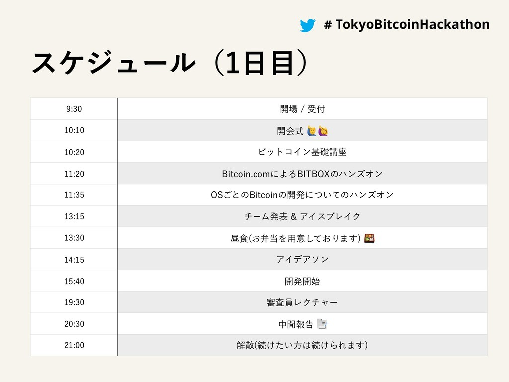 #BitcoinHackathon # TokyoBitcoinHackathon εέδϡʔ...