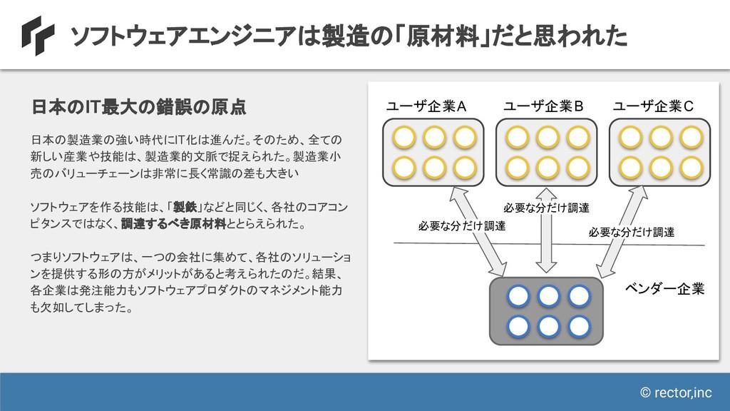 © rector,inc ソフトウェアエンジニアは製造の「原材料」だと思われた 日本のIT最大...