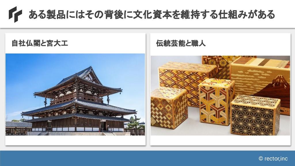 © rector,inc ある製品にはその背後に文化資本を維持する仕組みがある 自社仏閣と宮大...