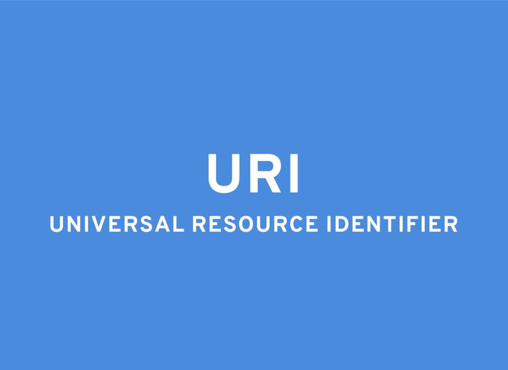 URI UNIVERSAL RESOURCE IDENTIFIER