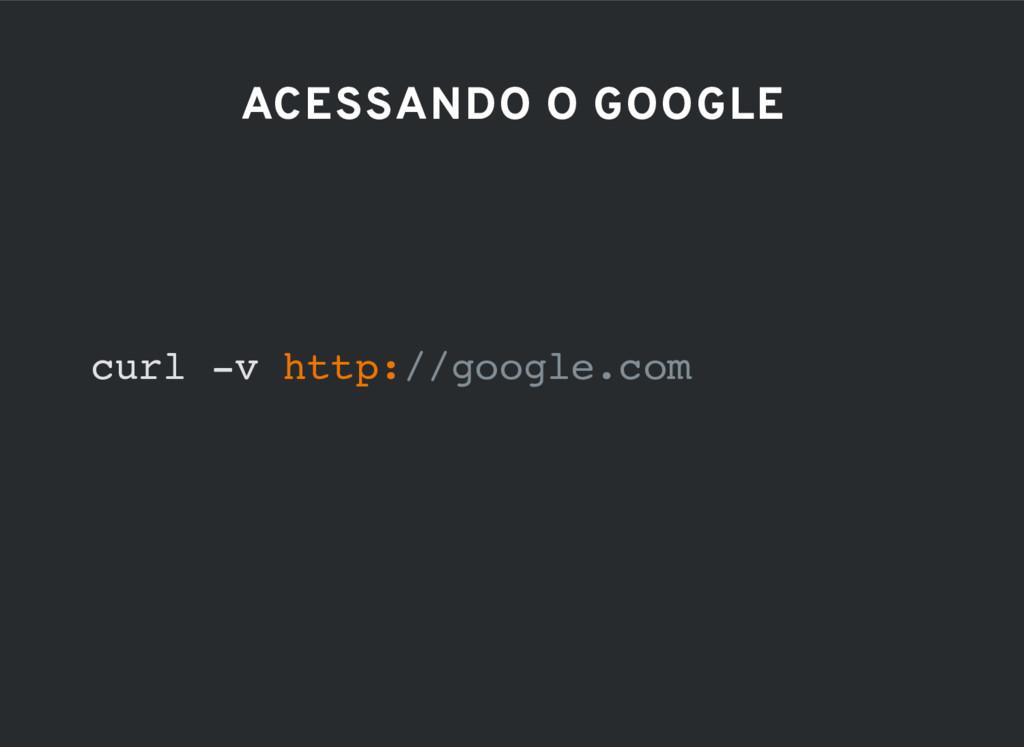 ACESSANDO O GOOGLE curl -v http://google.com