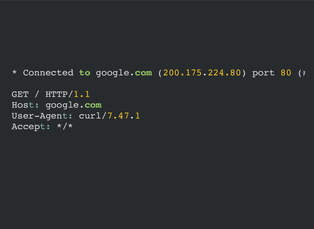 * Connected to google.com (200.175.224.80) port...