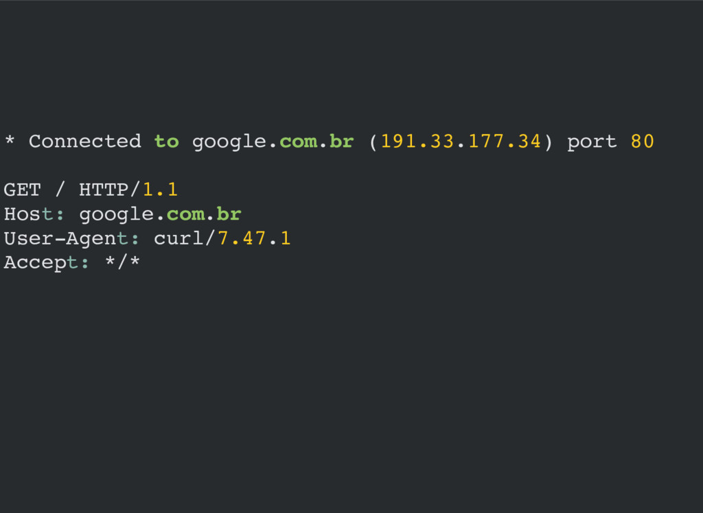 * Connected to google.com.br (191.33.177.34) po...