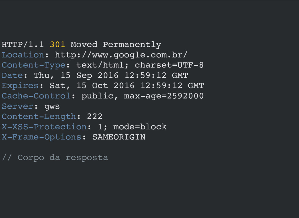 HTTP/1.1 301 Moved Permanently Location: http:/...