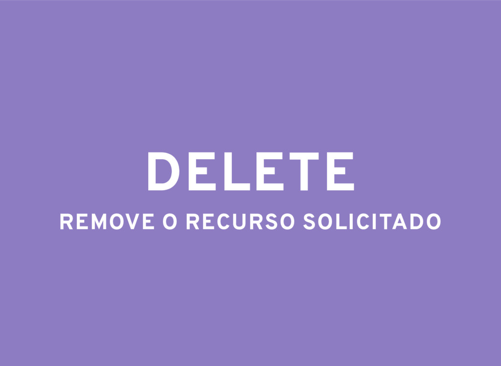 DELETE REMOVE O RECURSO SOLICITADO