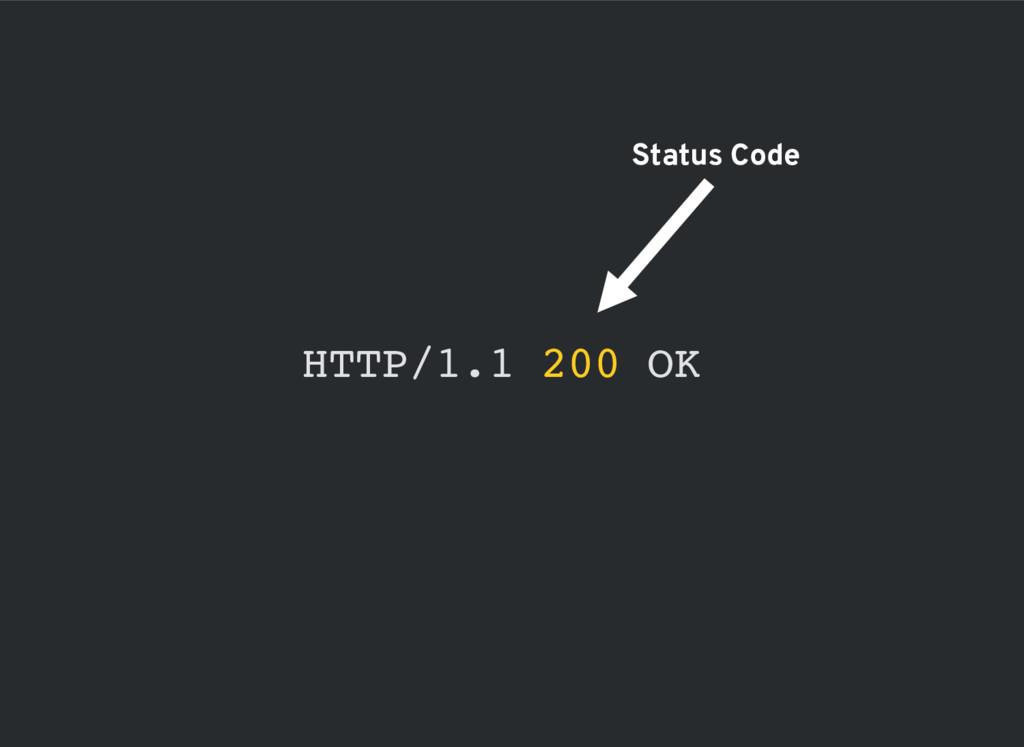 HTTP/1.1 200 OK Status Code