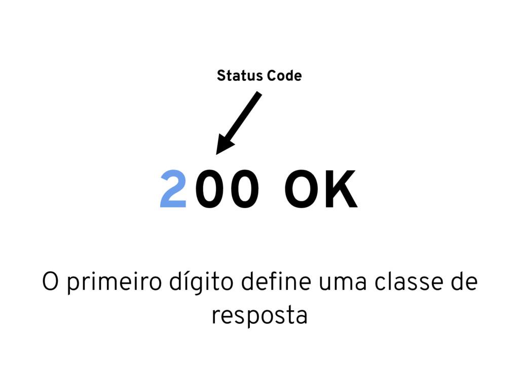 Status Code 00 OK 2 O primeiro dígito define uma...