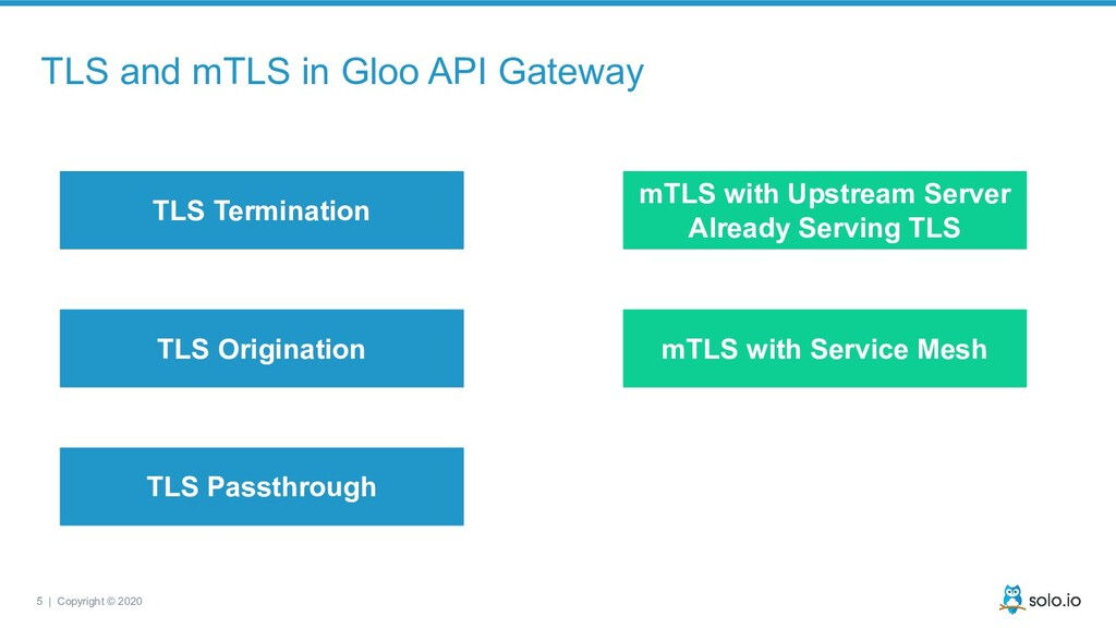 5 | Copyright © 2020 TLS and mTLS in Gloo API G...