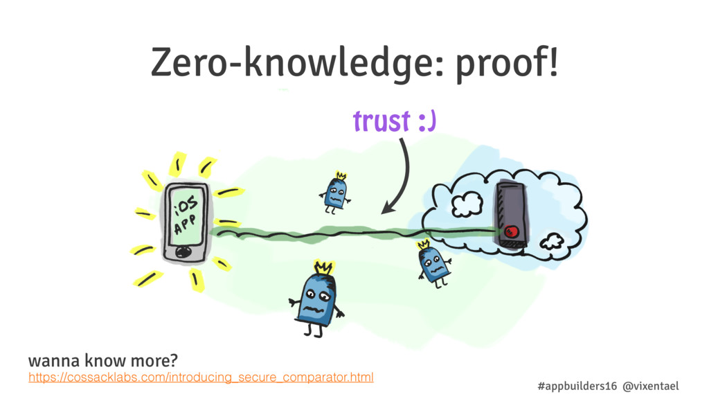 Zero-knowledge: proof! trust :) #appbuilders16 ...